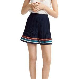 Maje Navy Blue Ikingi Crepe Pleated Shorts